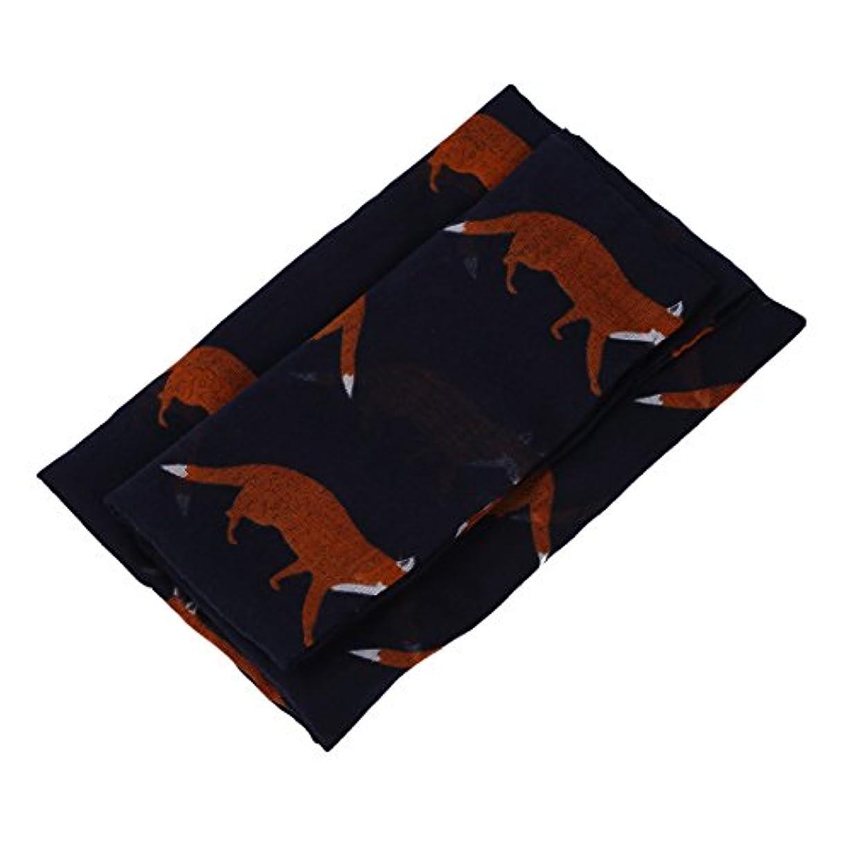 慣れる熟読露女性の長くて可愛いフォックスプリントスカーフ 女性のラップショールソフトスカーフ(ベージュ)