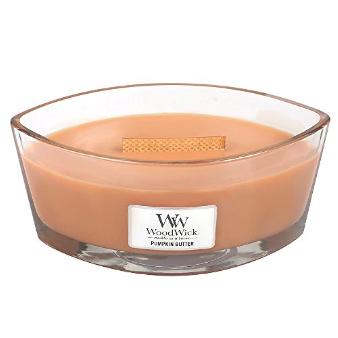 直感罰症状Woodwick PumpkinバターHearthWick Flame Large Scented Candle
