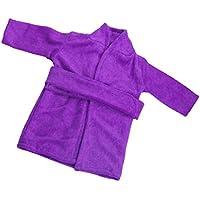 Jiliオンラインパープルnight-robe Sleepwear for 18 inch American Journey Girl My Life人形