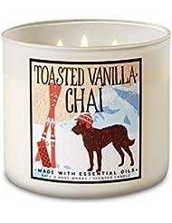 【Bath&Body Works/バス&ボディワークス】 アロマキャンドル トーステッドバニラチャイ 3-Wick Scented Candle Toasted Vanilla Chai 14.5oz/411g [並行輸入品]