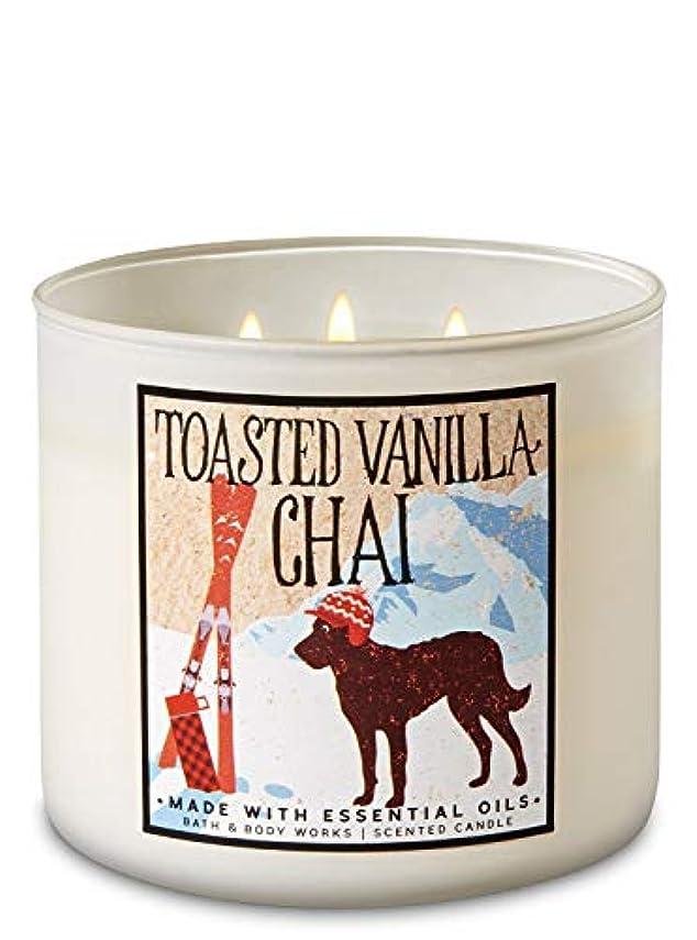 サーマル衣服アンビエント【Bath&Body Works/バス&ボディワークス】 アロマキャンドル トーステッドバニラチャイ 3-Wick Scented Candle Toasted Vanilla Chai 14.5oz/411g [並行輸入品]