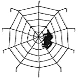 ハロウィン 飾り 蜘蛛の巣 スパイダーネット 150cm お化け屋敷 装飾 クモ 蜘蛛 60cm ホラー ハロウィングッズ 舞台 室内 ホーム デコレーション お部屋 アクセサリー ハロウィーン コスプレ道具 人気 パーティ小物 玄関 飾り物 ブラック