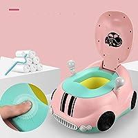 TXOZ トイレチェア、取り外し可能なポータブルビルトイントイレ、肘掛けと背もたれ付き多機能環境スツール (Color : Pink, Size : PU)