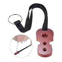Becemuru チェロ用エンドピンストッパー チェロ ストッパー 滑り止め 耐久性 調節 可能(レッド)