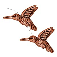 Copper Plated Pewter Hummingbird Beads 13mm (2)