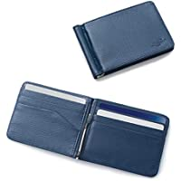 Zodaca Bifold Leather Wallet ID Card Business Card Case Credit Card Holder [Lightweight] [Travel-friendly] with Removable Bank Note Money Clip For Men