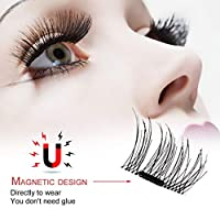 3D Permanent Magnetic Eyelash Glue Free Material Eyelashes 4 Pieces/Box Eyelash Extension Kit Recycle DIY False Eyelashes
