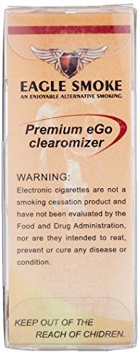 電子タバコ EAGLE SMOKE(イーグルスモーク) アトマイザー×4本 クリア・99770030 アドミラル産業
