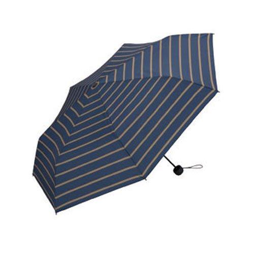 ワールドパーティー W.P.C メンズ MEN MINI umbrella コンパクト折りたたみ傘 (雨傘 日傘 晴雨兼用) UNISEX 004(Border) F