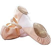 s.lemon Meshed Canvas Ballet Dance Shoes Slippers Flats for Girls Kids Women