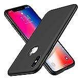 Woqatac iPhone XS ケース iPhone X ケース iPhone XS X カバー PC素材 指紋防 ケース 耐衝撃カバー 擦り傷防止 軽量 超薄型Qi充電対応 (iPhone XS X ケース, ブラック)