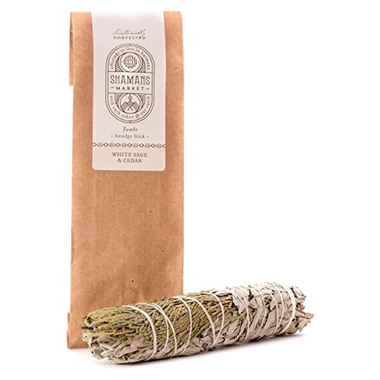 ホワイトセージ& Cedar Large Smudge Sticks 8 – 9で。