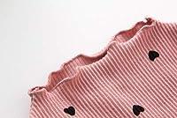 女児 ラブ プリント シャツ 春 新しいデザイン 赤ちゃん コットン トップス 児童 長