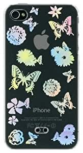 iBUFFALO iPhone4 ハードケースクリアデザインモデルバタフライ BSIPP9CBF