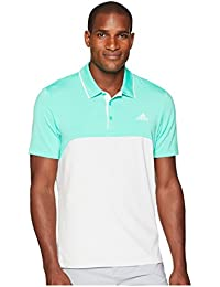 [adidas(アディダス)] メンズタンクトップ?Tシャツ Ultimate Heather Blocked Polo Hi-Res Green Heather/Grey One Heather XL