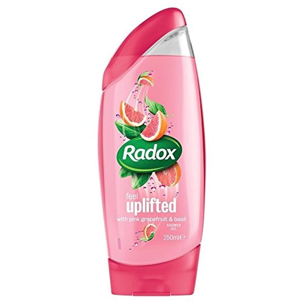 ええリム放射能Radox Grapefruit Uplifting Shower Gel 250ml (Pack of 6) - グレープフルーツ高揚シャワージェル250ミリリットル x6 [並行輸入品]
