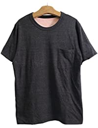 FilMelange フィルメランジェ CHEERY2 チーリー2  リバーシブル半袖Tシャツ -BLACK MELANGE/CORAL