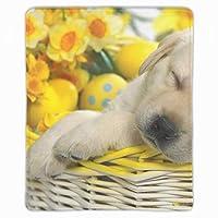 マウスパッド ゲームパッド ゲームプレイマット 子犬イースターバスケット夢の花