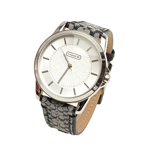 (コーチ) COACH 腕時計 クラシックシグネチャー ボーイズ シルバー ブラック グレー ステンレス ジャガード レザー 14601505 シグネチャー アウトレット レディース ブランド 並行輸入品