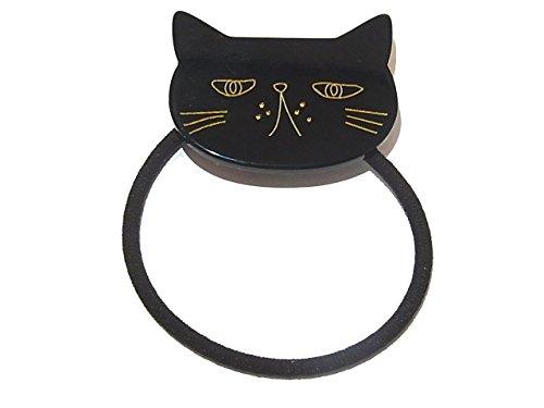 """[해외]루찌카 Luccica """"minino 헤어 고무""""(블랙) 고양이 머리 장식 액세서리 보석 귀여운 모티브 재미 여성 고양이 고양이 동물 동물/Luccica Luccica """"minino hair rubber"""" (black) cat hair accessories jewelry cute motif funny l..."""
