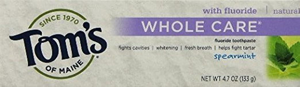 殺人チャンバーオゾンTom's of Maine Whole Care Toothpaste with Flouride Flavor 4.7 Ounce Tube (Pack of 3 (SPEARMINT) by Tom's of Maine