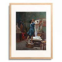 ジャン=レオン・ジェローム Jean-Léon Gérôme 「Pygmalion and Galatea.」 額装アート作品
