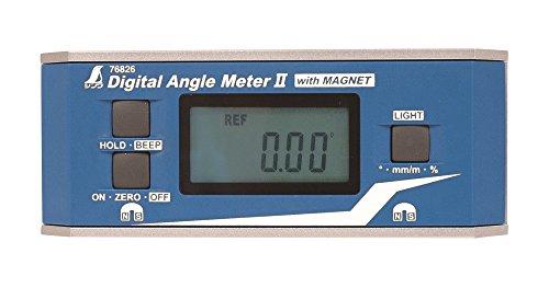 シンワ測定 デジタルアングルメーターII 防塵防水 マグネット付き 76826