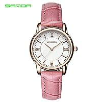 SJXIN SANDA時計スポーツウォッチ, SANDA時計レディースファッションベルト防水ストラップクォーツ腕時計カジュアルな雰囲気の女性の腕時計 (Color : 5)