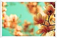 マグノリアの花のティンサイン 金属看板 ポスター tin sign metal