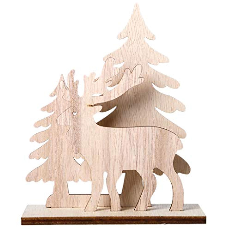 チェリー丁目 クリエイティブdiyの木製工芸品クリスマスツリーの鹿の装飾飾りクリスマスホームパーティー用品