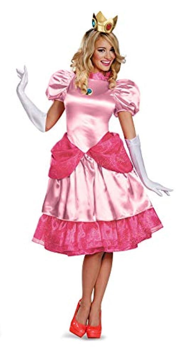 の慈悲でインタフェース独特のSuper Mario Bros. - Deluxe Princess Peach Adult Costume スーパーマリオブラザーズ - デラックスピーチ姫大人用コスチューム?ハロウィン?サイズ:Large (12-14)