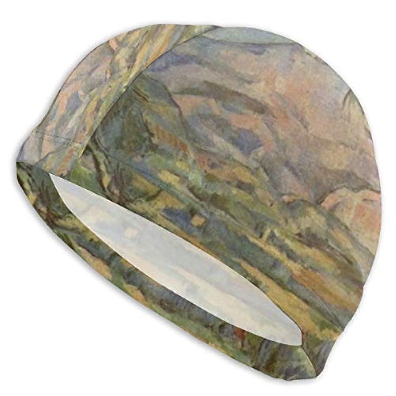 ボンド液化する大破HEYIN Mont Sainte-Victoireモンサントヴィクトワール 耳をカバーする人間工学に基づいたイヤーポケット付きのスイムバスキャップアンチスリップスイミングハット-大人の男性女性の若者のため
