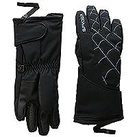 スパイダー Spyder Glove Black/French Blue Overweb Ski Gloves (Little Kids) [並行輸入品]