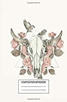 """Notebook: Steer Skull , Journal for Writing, Size 6"""" x 9"""", 164 Pages"""