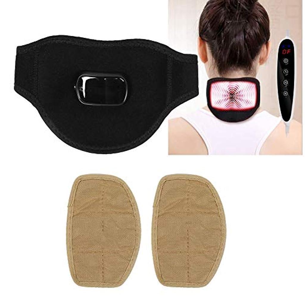 法王食品中庭電動肩マッサージャー、USBヘルスを加熱するためのm付きの温かい首サポート、首の損傷または痛みに適しています