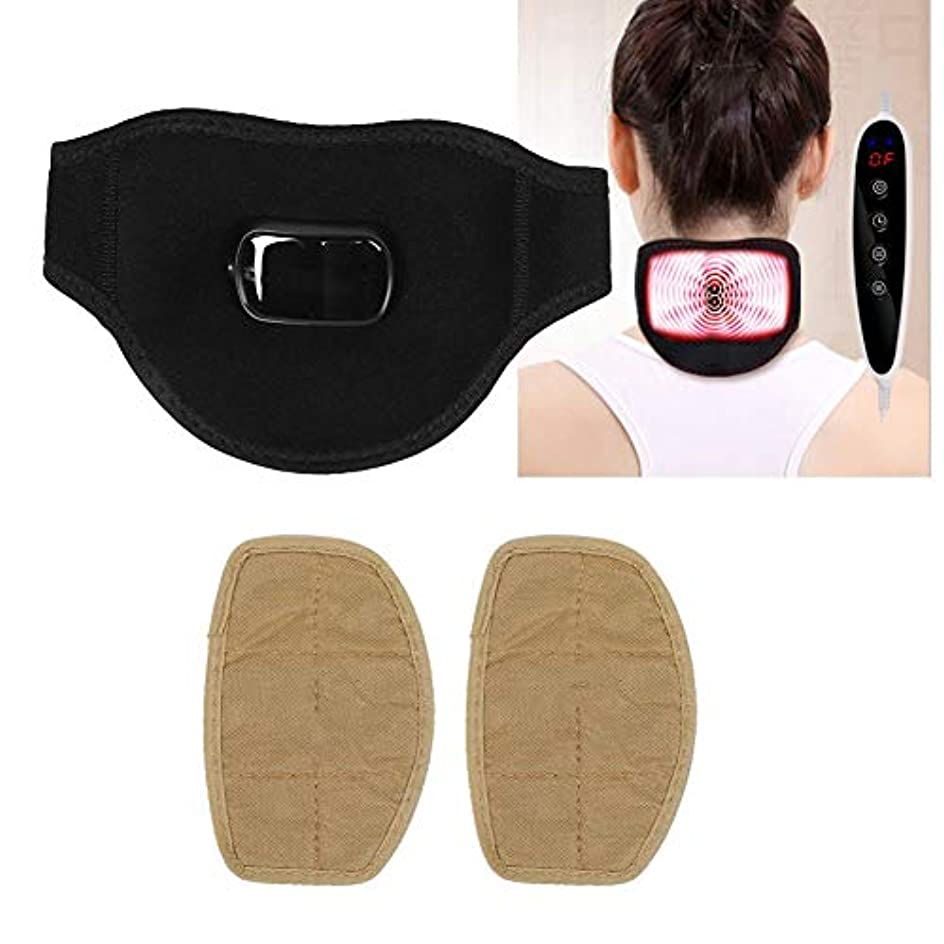 まともなフォーマルフィード電動肩マッサージャー、USBヘルスを加熱するためのm付きの温かい首サポート、首の損傷または痛みに適しています