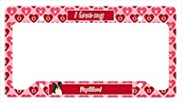 Carolines Treasures LH9165LPF 12 x 6 in. Papillon Valentines Love and Hearts License Plate Frame