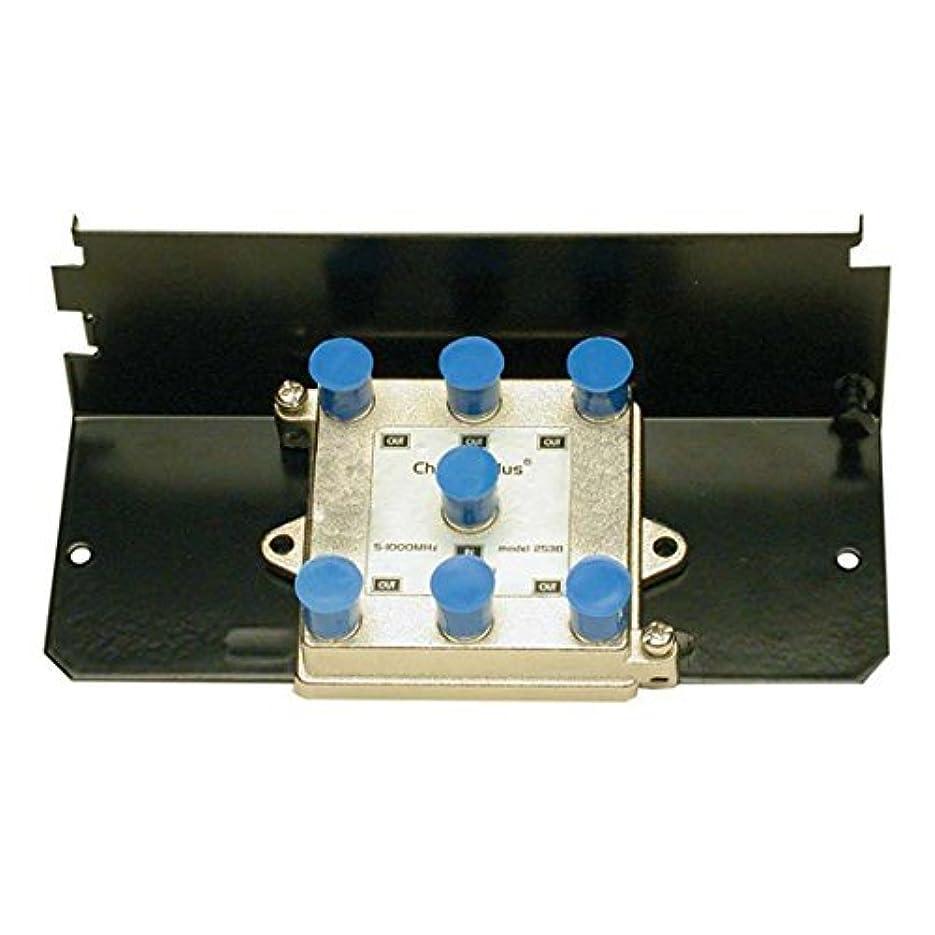 紳士気取りの、きざなトラックシンプルな6 - Way RFスプリッタハブBalanced 5 – 1000 MHz 130 dB RFI Rejection垂直CATVアンテナビデオ信号スプリッタケーブルモデム/ UHF VHF FMの帯域幅のバンド、グリッドマウント可能