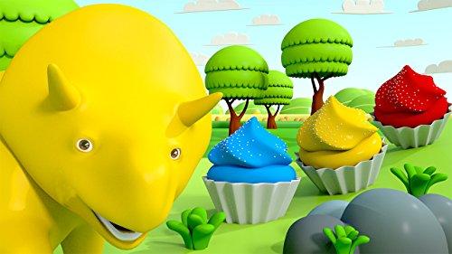 ダイノと一緒にいカラフルなカップケーキを作ろう & 泡打ちゲーム