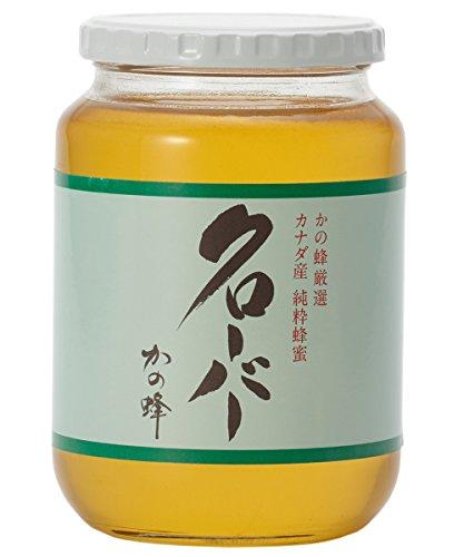 はちみつ 専門店【かの蜂】 厳選 カナダ 産 クローバー 蜂蜜 1000g( 1kg ) 純粋 蜂蜜 (瓶容器)