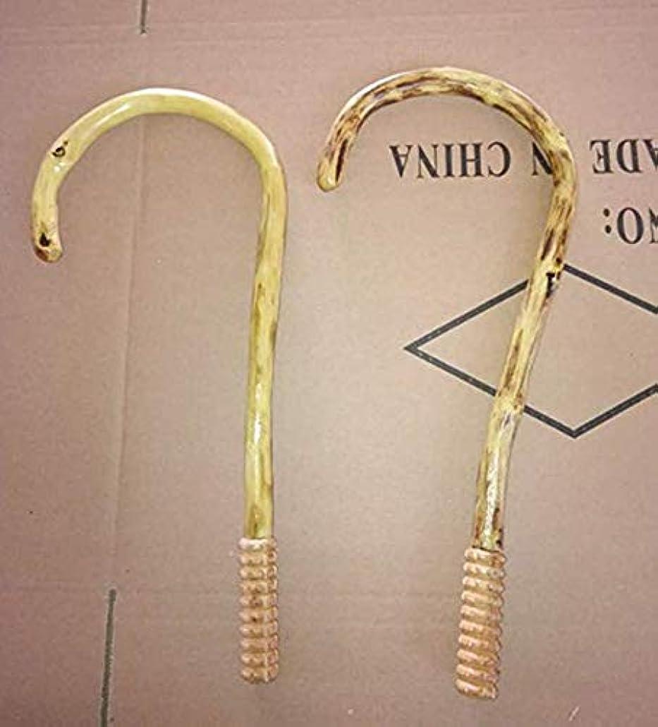 トロリー印刷する詩指圧器 ツボ押し棒 (籐)