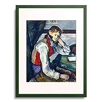 ポール・セザンヌ Paul Cézanne 「赤いチョッキの少年 The boy with the red vest.」 額装アート作品