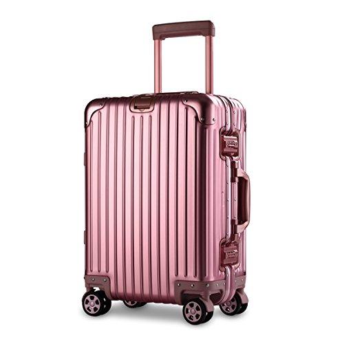 【XDJ Life】 アルミマグネシウム合金スーツケース 静音8輪・ダブルキャスター TSAロック搭載 フレームタイプ ...