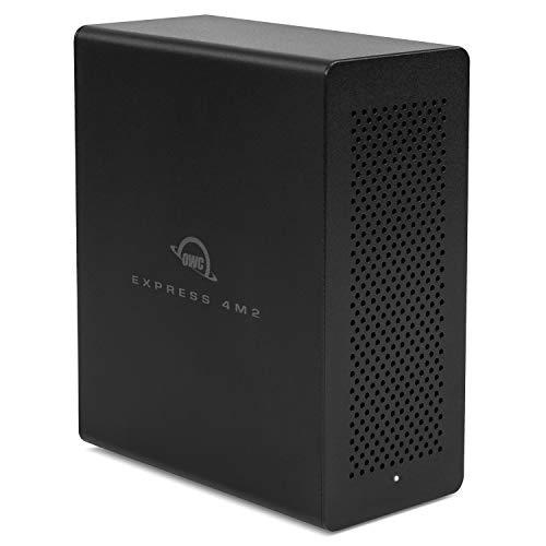 【国内正規品】OWC Express 4M2 (OWC エキスプレス 4M2) NVMe M.2 SSD 4スロット Thunderbolt 3接続 最大8.0TB DisplayPort搭載 外付けSSDケース