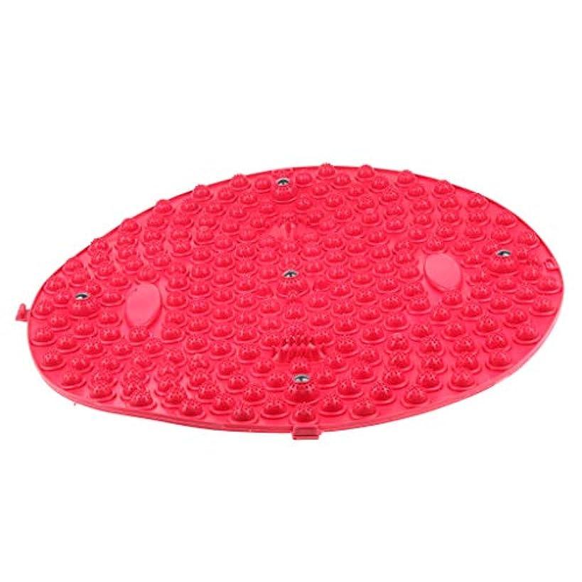 肘頭痛指定chiwanji TPEヨガフットフィートマッサージマットテンションリリースパッドボディ筋肉リラクゼーション - 赤