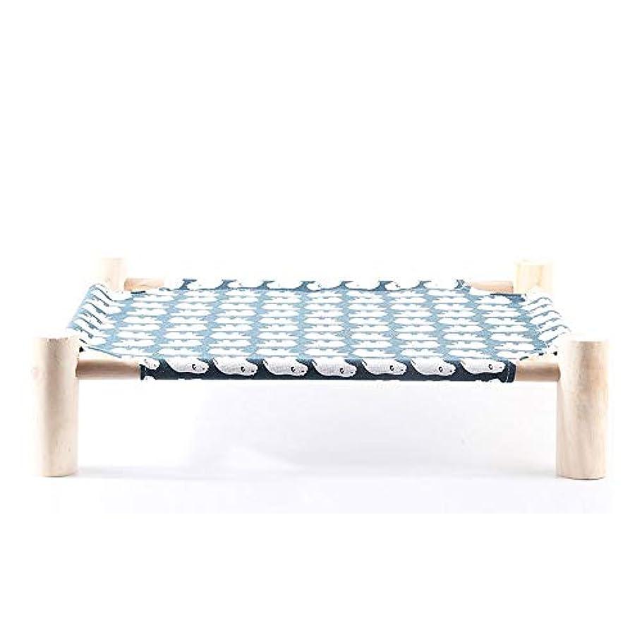 論文適度な災難高架猫ベッド/ハンモック小型犬のベッド木製の取り外し可能なフレームうさぎ猫子猫子犬屋内/屋外用洗える眠る猫ソファ猫の洞窟ペット家具をハンギング DYYD (Color : A)