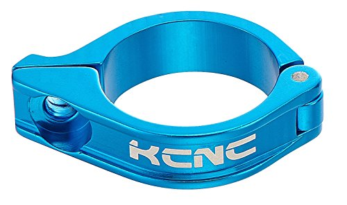 KCNC 自転車 軽量 ディレーラークランプ フロント ブルー 28.6MM 653254