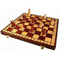 ヨーロッパ製 手作り 木製チェスセット コンパクト 36cm[並行輸入品]