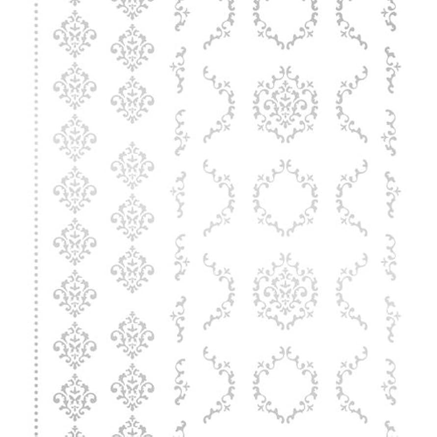 ケーブルカー小康広告ツメキラ(TSUMEKIRA) ネイル用シール agehaダマスクM シルバー SG-AGE-103