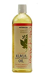 Kukui Sunset Massage Oil/Tropic Breeze Fragrance 472ml/16oz